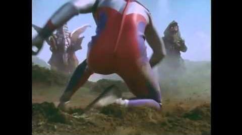 Ultraman Tiga vs Golza and Melba