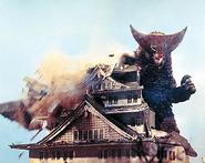 Gomora Osaka Castle down