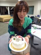 Risa with her birthday cake