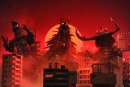 UX-Zai Gorg, Gorg Fire Golza, and Gorg Antlar