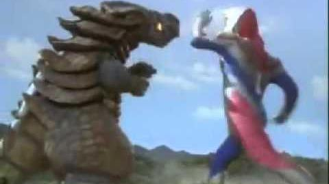 Ultraman Dyna vs Glossena