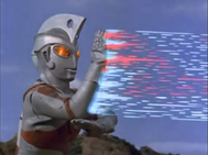 Ace using Metallium Ray to finish Alien Hipporito