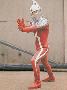 Ultraseven B in city