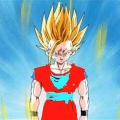 Gotek as a Super Saiyan 2.