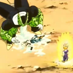 Cell regurgitating Android 18