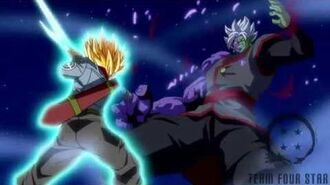 Trunks kill Zamasu Shining Finger Sword style!!-1