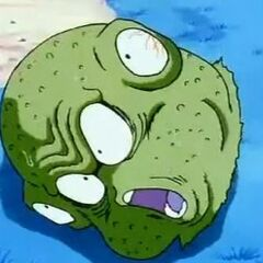 Guldo's head is decapitated as a result of Vegeta's attack
