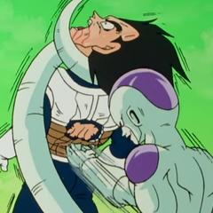 Frieza beats Vegeta to near death