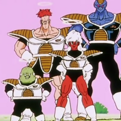 The Ginyu Force arrives on King Kai's Planet