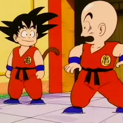 Krillin hears he's going to fight Goku in the Tournament.