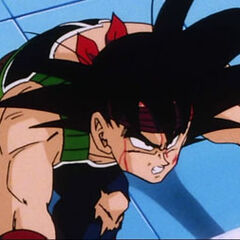 Bardock about to launch into space try to stop Frieza