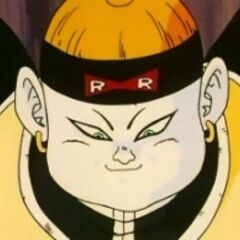 Android 19 smiling victoriously