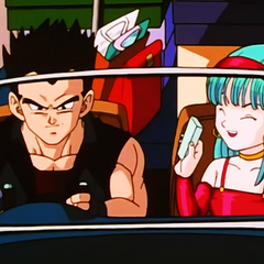 Bulla along with Vegeta as he takes her home from shopping