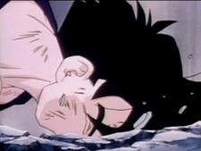 Gohan fells to his death2