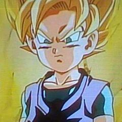 Goku Jr.'s transforms for the first time