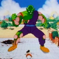 Piccolo grows in size when facing Goku
