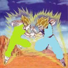 Goblu fighting Majin gokan