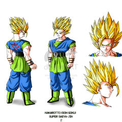 AF SSJ2 Goku design