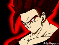 Dark SSJ Goku by JohnSeppala