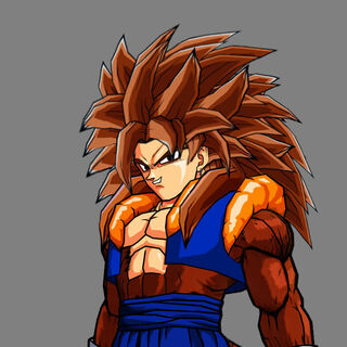 Super Saiyan 4 Gogetto In his unmastered State