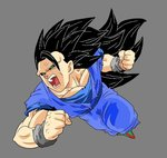 Dark Goku Super Saiyan 3 by Delmor