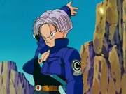 Trunks Deflects an Attack
