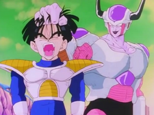 Frieza grabs gohan by the hair