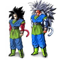 Super Saiyan 4 and 5 Goku