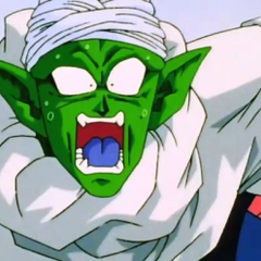 Piccolo surprised at seeing Super Saiyan 3 Gotenks