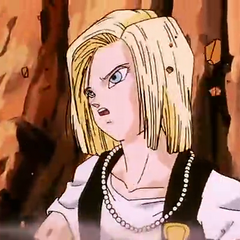 Android 18 looking for Cell