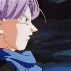 Trunks in GT during the battle against Omega Shenron.
