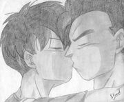 Gohan and Videl kiss by xen36