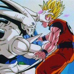 Syn Shenron punching Gohan