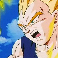 SS Vegeta while fighting Super Buu.