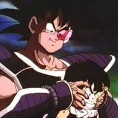 Turles makes Gohan look at the moon