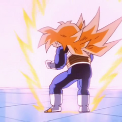 Gohan transforms for the first time but is unable to control the immense power