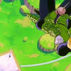 Cell in his battle against Goku