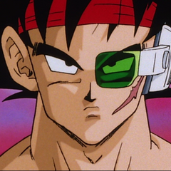 Bardock after putting on Tora's blood-stained armband.