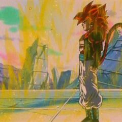 Ssj 4 Gogeta right after being fused
