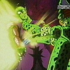 Cell easily defeating Piccolo