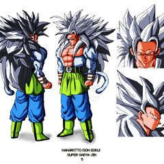 AF SSJ5 Goku design