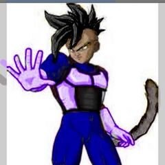 Cole in his Saiyan Outfit