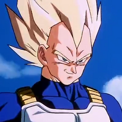Super Saiyan Vegeta before fighting Cell.