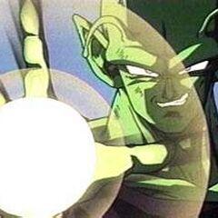 Piccolo charges a Ki Blast
