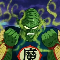 King Piccolo prepares to finish Goku off