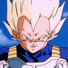 Super Saiyan Vegeta about to go Ascended Super Saiyan.
