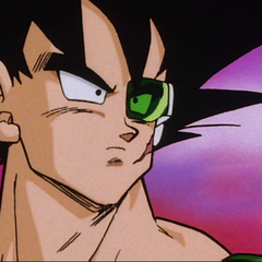 Bardock about to put on Tora's armband after Tora's death.