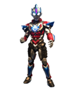 Ultraman orb lightning attacker statue by zer0stylinx-dak48h4