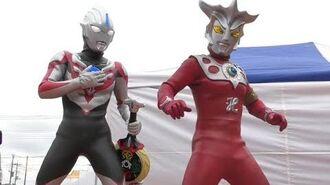 ウルトラマンレオカッコいい!! ウルトラマンオーブショー オーブオリジンもいきなり登場! 最前列高画質 Ultraman show kidsshow-0