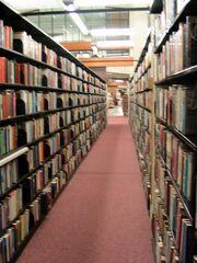 Library book shelves